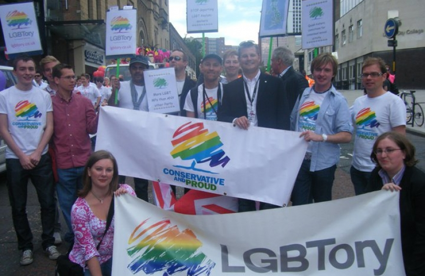 New gay Tory MP leads Pride parade in Leeds