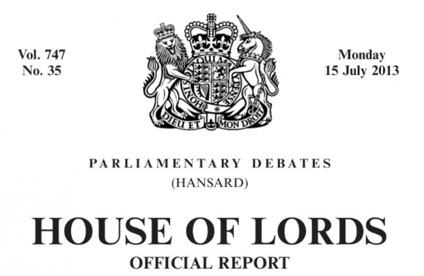 Lords Hansard, 3rd Reading equal marriage bill, same sex marriage, LGBTory