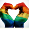 Annual Report cover.  Rainbow hands forming a heart shape.